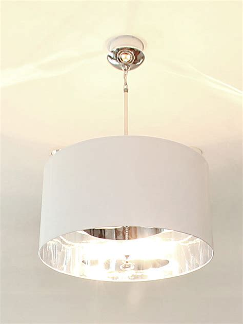 Tmd White Glossy Drum Shade White Drum Ceiling Light