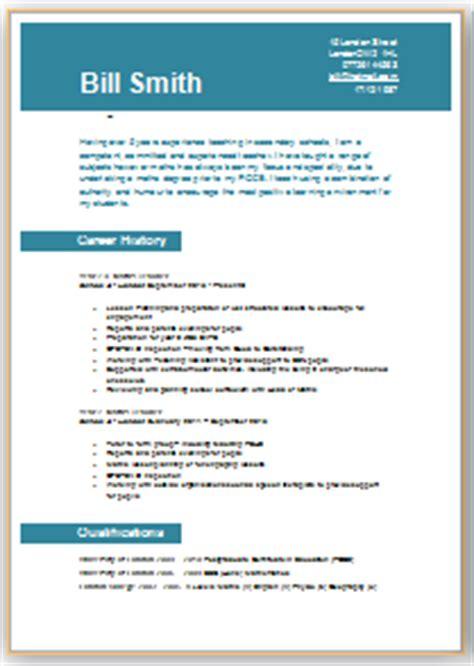 cv template for teachers ireland