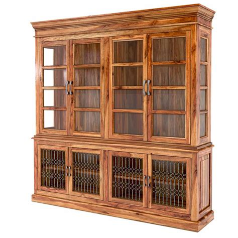 Glass Door San Francisco San Francisco Handcrafted Solid Wood Glass Door Dining China Hutch