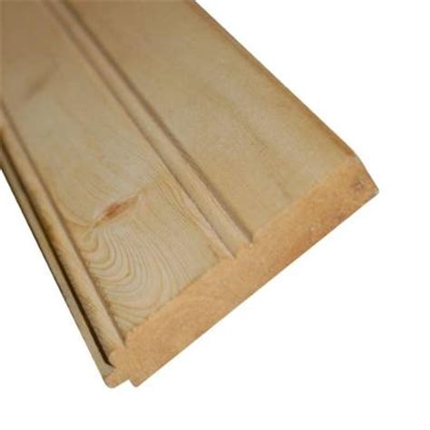 1 in x 4 in x 8 ft common tongue groove ceiling board