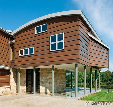 copper siding for houses eco friendly home on the waterfront