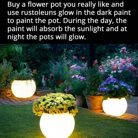 glow in the paint yard light flower pots for a magical