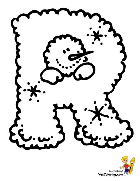 free coloring pages of christmas letter l