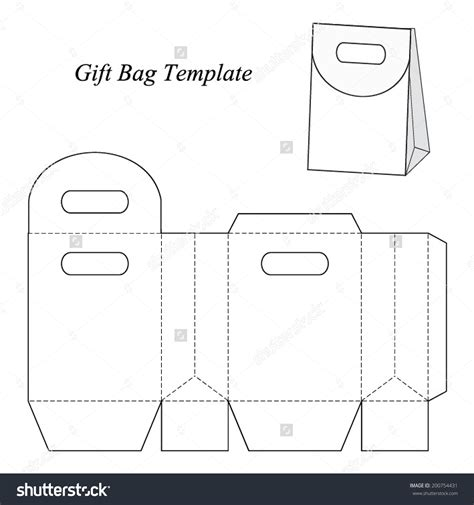 paper gift bag template paper bag blueprint image collections blueprint design