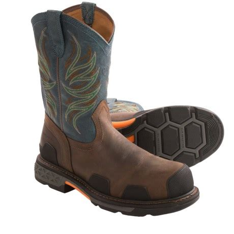 ariat overdrive work boots ariat overdrive pull on boots yu boots