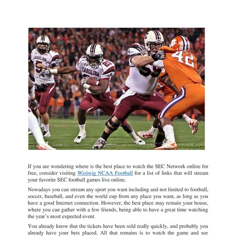 how to watch football how to watch any sec network football game online for free