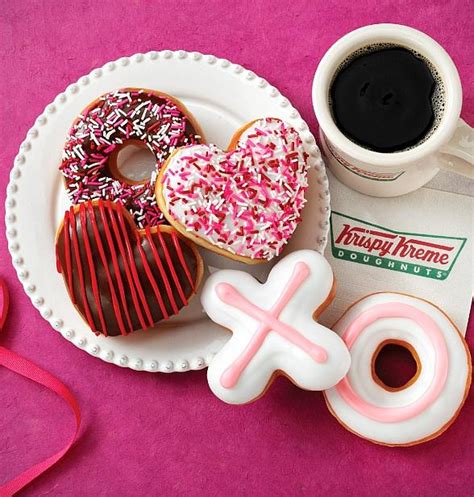 krispy kreme valentines day new krispy kreme coffee flavored doughnuts with a hint of