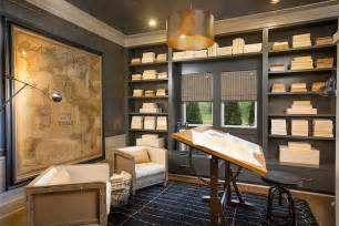 gray built in bookcase transitional den library office log home interiors home interior design