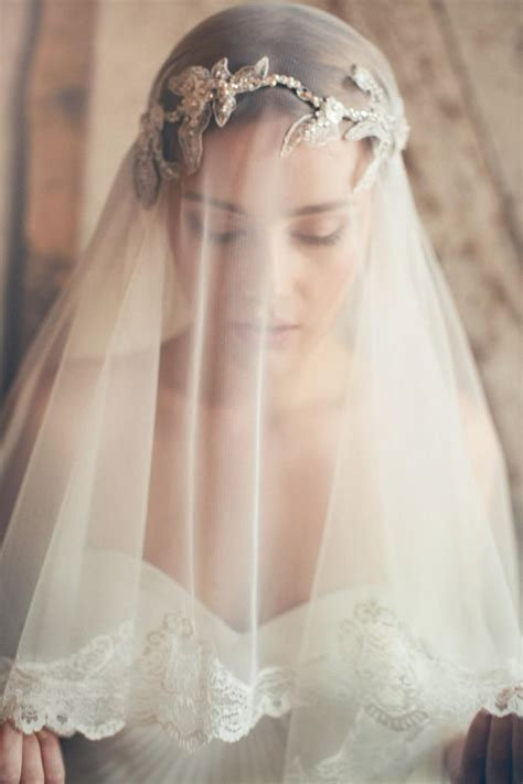 Silk Tulle Veil   Ivory Wedding Veil   Mantilla Veil