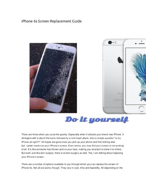 iphone 6s screen replacement guide