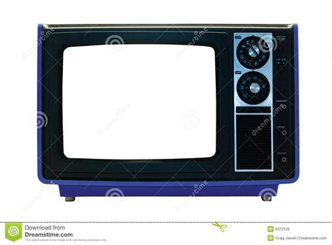 Blue Outline On Tv by Blue Retro Tv Isolated With Clipping Paths Royalty Free Stock Images Image 5373129