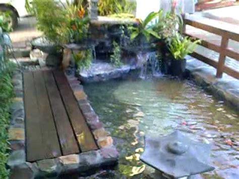 koi pond  waterfalls  quezon city philippines youtube