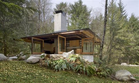 Cabin Plans Modern | small modern cabin plans small contemporary cottage