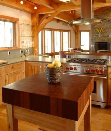 Chop Block Countertop by Timber Frame Counters Tops New Energy Works