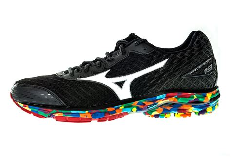 mizuno shoes wave rider 19 black multi color
