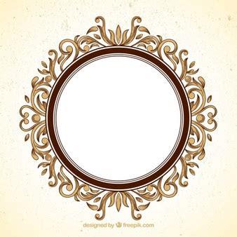 ornament photo frames circle border vectors photos and psd files free