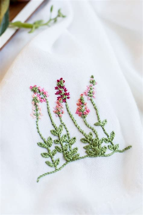 embroidery floral floral embroidery patterns for dishtowels flax twine