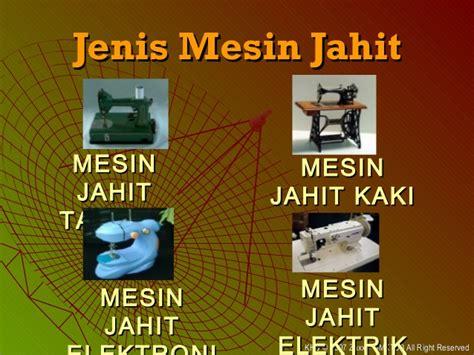 Mesin Jahit Elektrik khb ting 1 bab 5 jahitan