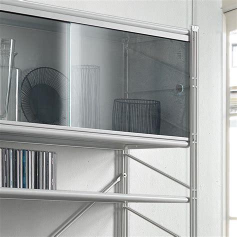 scaffali ripostiglio fabulous libreria scaffale per soggiorno in acciaio bianco
