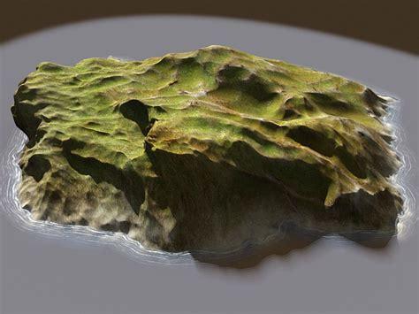 small barren island  model ds max files   modeling   cadnav