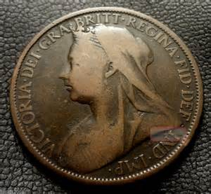 Old united kingdom gb 1899 1 penny queen victoria quot crown veil