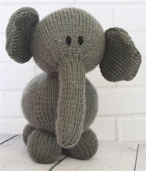 elephant knitting pattern elephant soft knitting by post