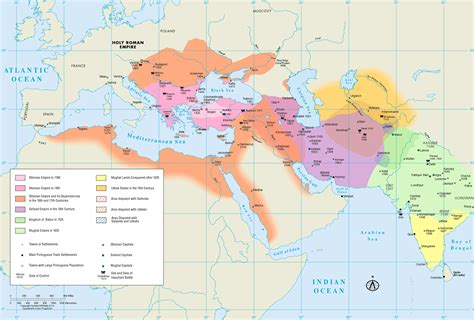 ottomans and safavids map of gunpowder empires ottomans safavids and mughals