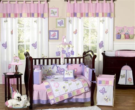 purple butterfly crib bedding butterfly pink and purple crib bedding collection
