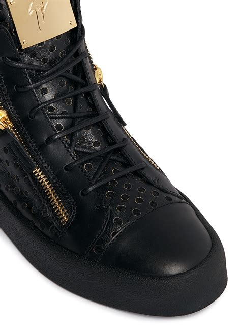 Mid Top lyst giuseppe zanotti may leather mid top sneakers in black for