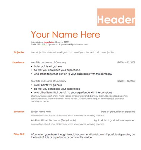 resume templates zip resume format resume template zip