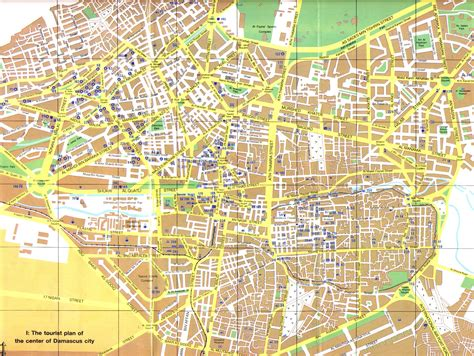 damascus on a map map of damascus city maps of syria planetolog