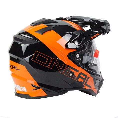 black motocross helmets oneal 2016 dual sport edge black orange motocross