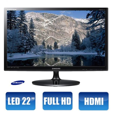 Tv Led Samsung Di Pontianak tv monitor led 22 quot samsung hd widescreen conversor di jtcktudoemtecnologia