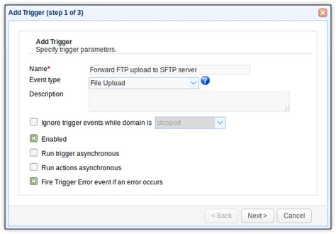 forward server forwarding files from ftp to sftp