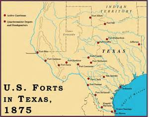 forts map forts in 1875