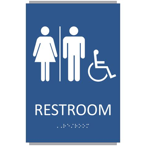 ada bathroom sign ada braille unisex restroom sign sign design associates inc