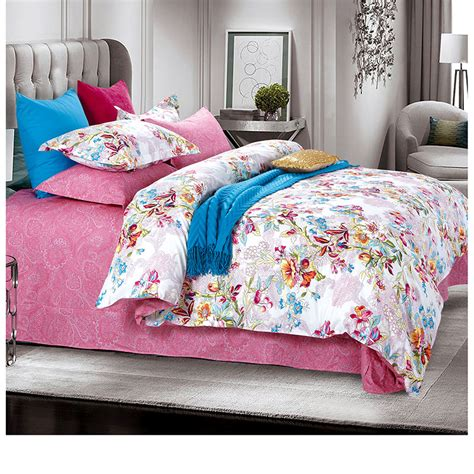 White Cotton Comforter Sets by Sophisticated Pink And White Cotton Bedding Set Ebeddingsets