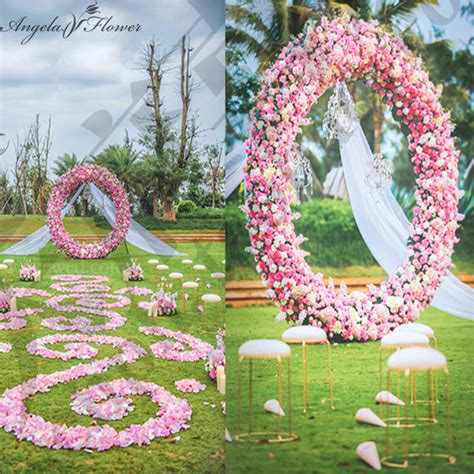 Wedding Arch Ireland by Wedding Silk Flower Circle Arch Make Up Whole