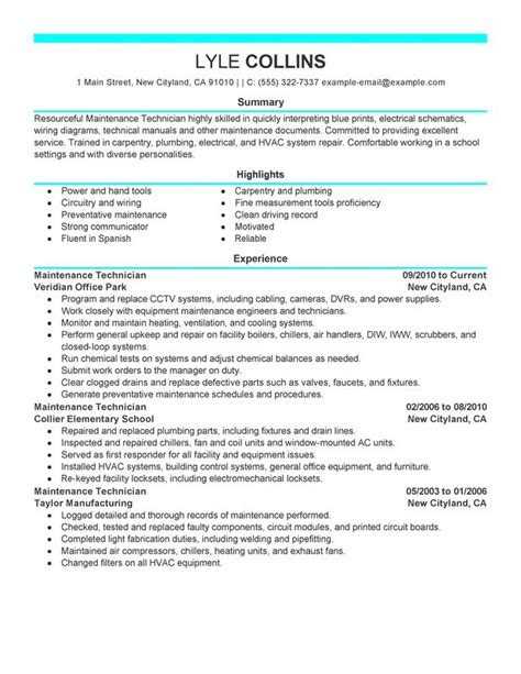 Resume Hvac Service Technician by Hvac Service Technician Resume Best Resume Gallery