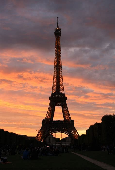 beautiful eiffel tower public domain free photos for the eiffel tower at sunset www pixshark com images