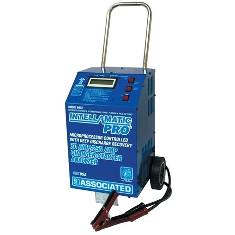 battery charger analyzer associated equipment 6003 intellamatic pro battery charger