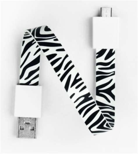 zebra pattern in camera mohzy usb to micro usb loop cable in zebra pattern d2d