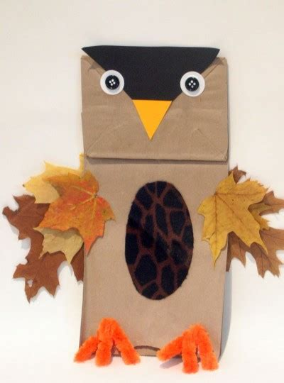 Owl Paper Bag Craft - paper bag owls family crafts