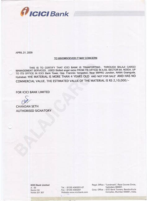 Indian Bank Letterhead Balaji Trans Carriers Clients Testimonials Sles Testimonials From Clients Sle Letter