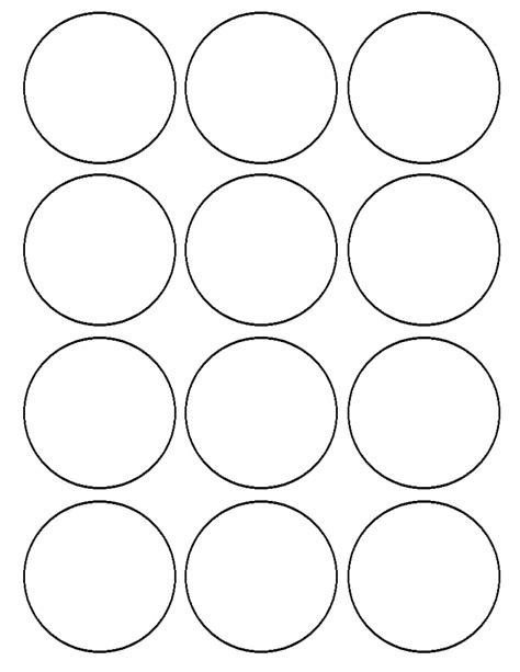 2 inch circle template flour confections