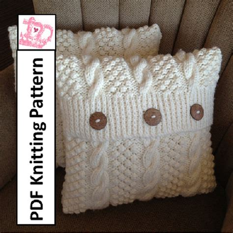 cable cushion cover knitting pattern knit pattern pdf cable knit pillow cover pattern blackberry