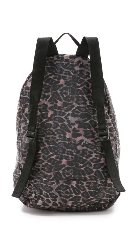 Tas Herschel Packable Backpack herschel supply co packable daypack backpack leopard in animal leopard lyst