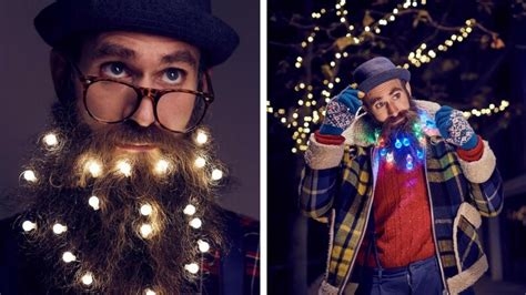 tree lihgt guys beard lights is this year s trend all should follow