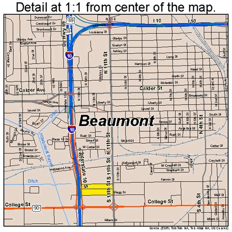 texas map beaumont beaumont texas map 4807000