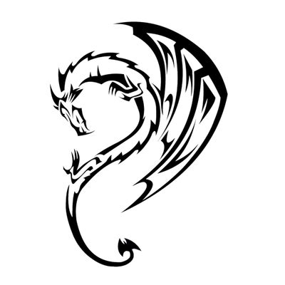 curved tribal tattoos wolf bold transparent png stickpng